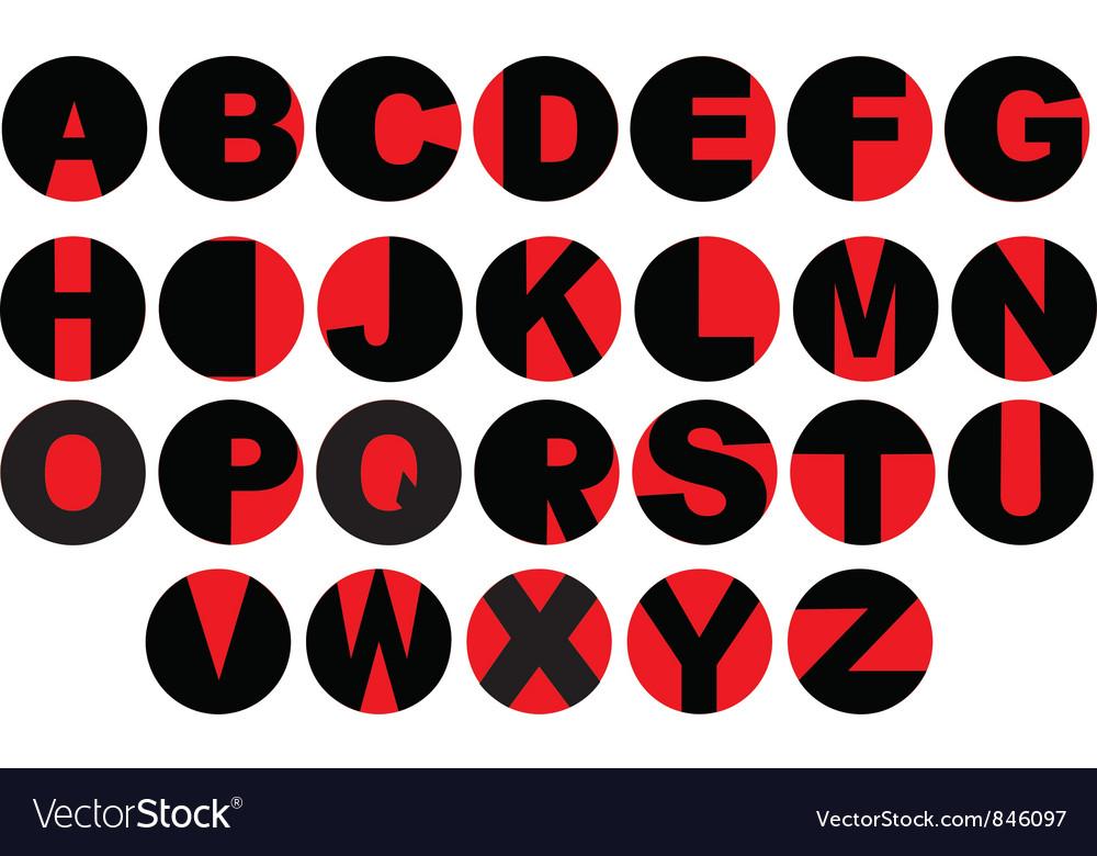 Alphabet - vinyl record letters