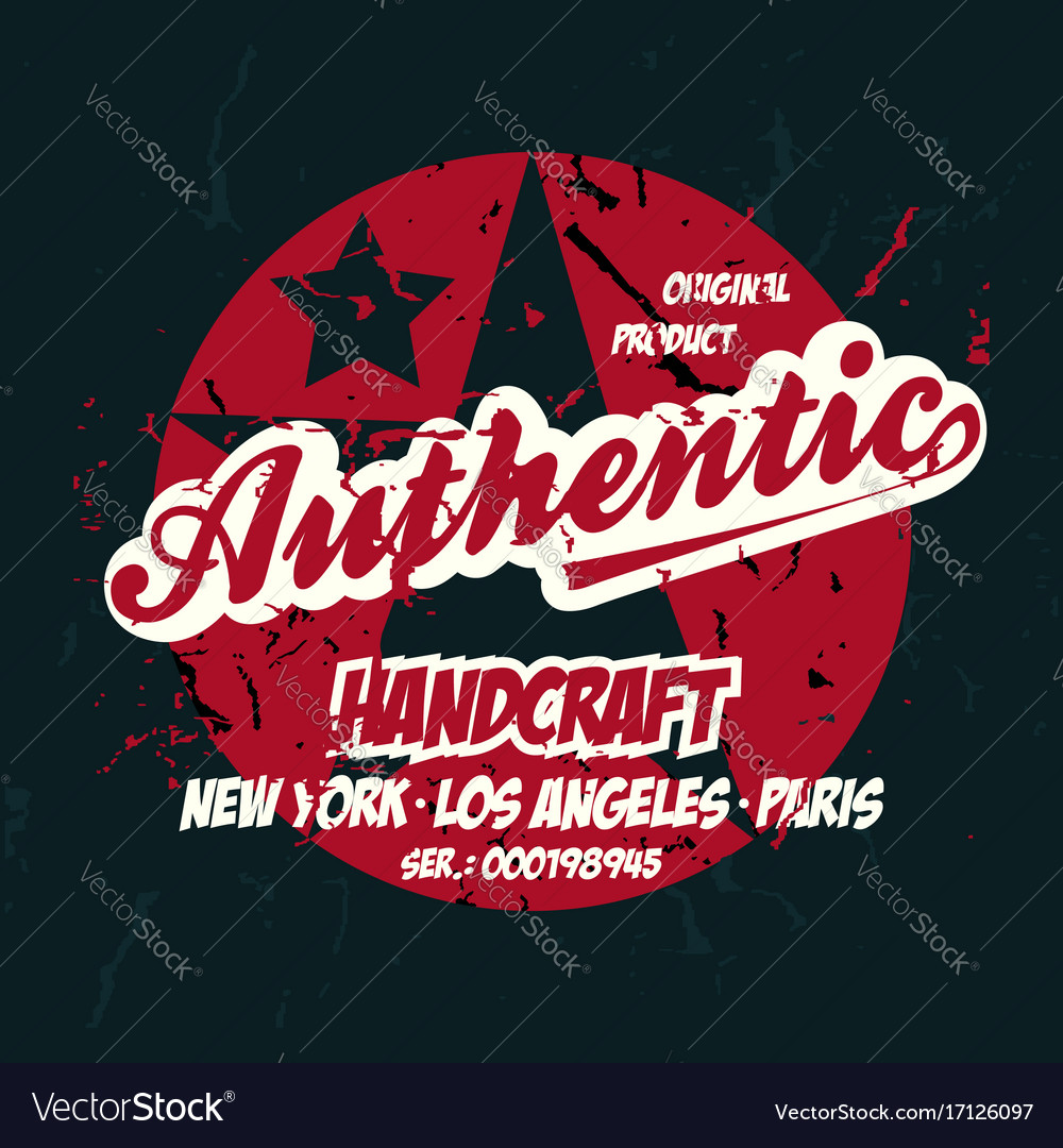 Authentic print apparel stamp for shirt