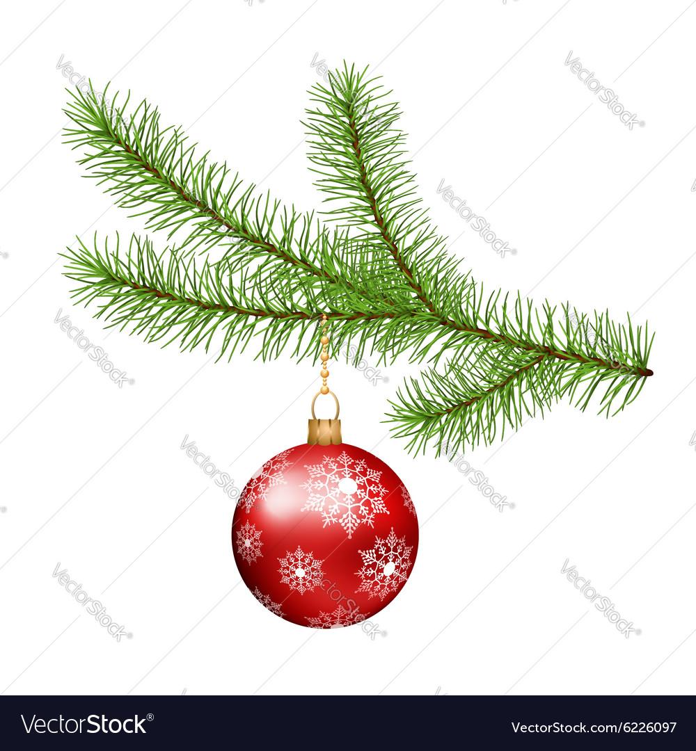 Christmas branch hanging Christmas ball