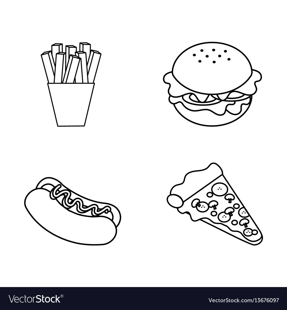 Figure fast food background icon