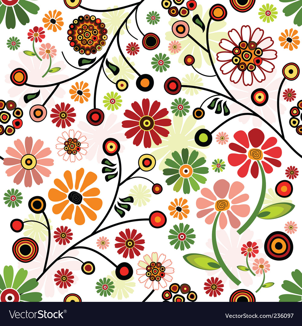 Floral wallpaper pattern Royalty Free