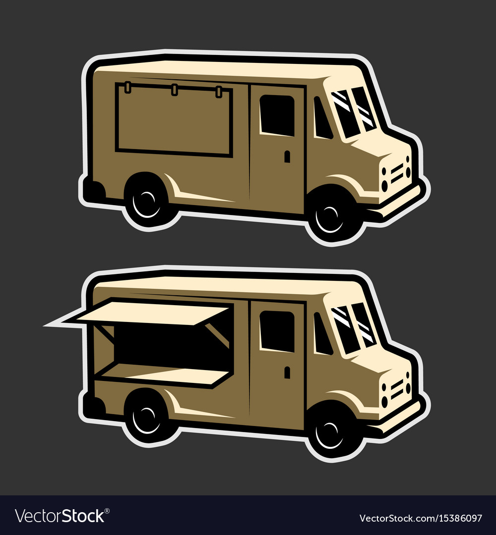 Food Truck Template Royalty Free Vector Image