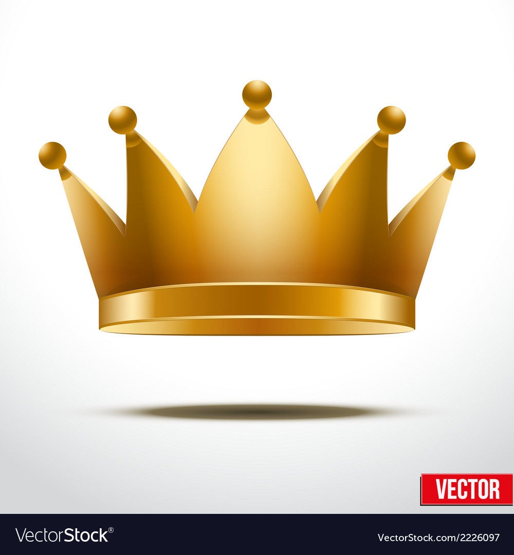 Gold classic Crown vector image