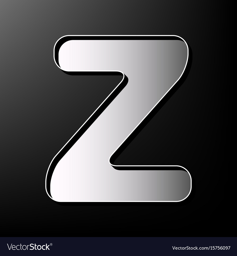Letter z sign design template element