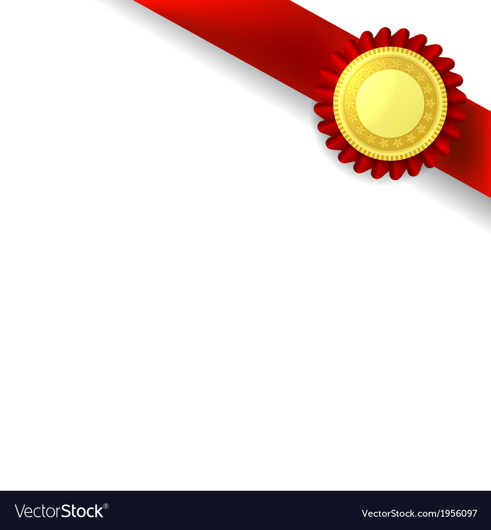 orner ribbon and quality certificate royalty free vector
