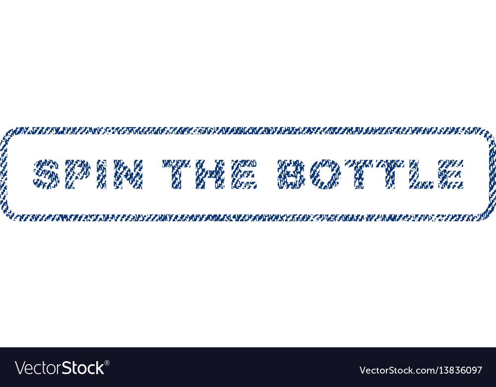 Spin the bottle textile stamp vector image