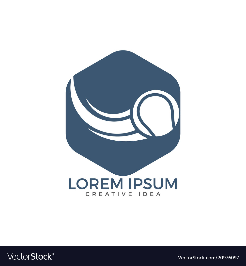 Tennis sport logo design template