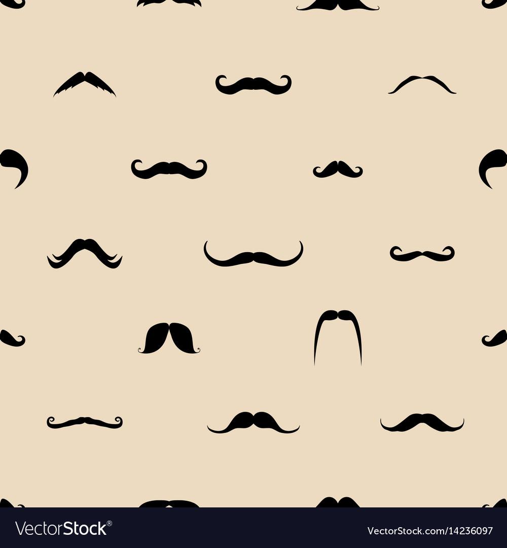 Vintage dad mustaches seamless pattern
