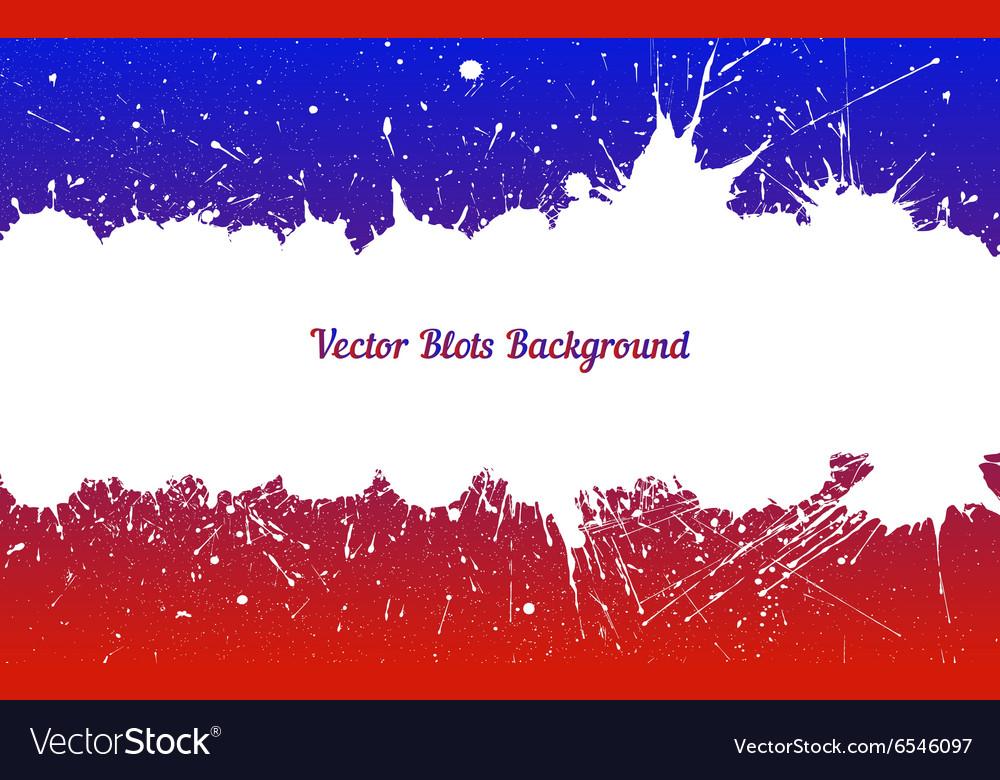 White ink splashes over blue red