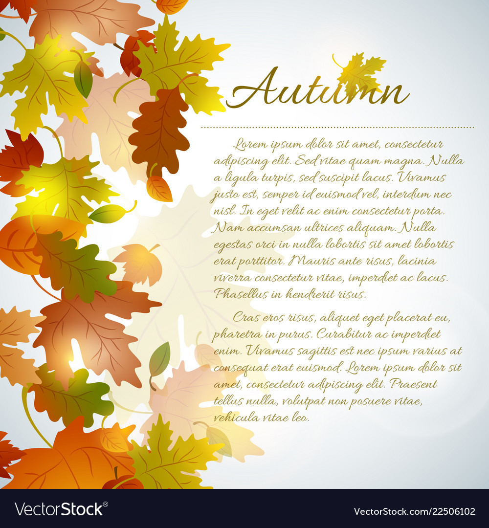Autumn faded leaves concept