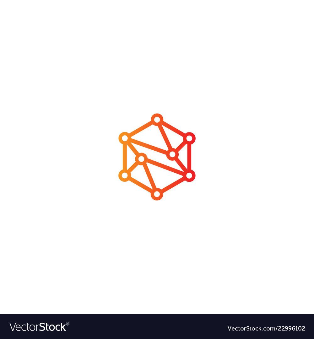 Connection polygon technology logo