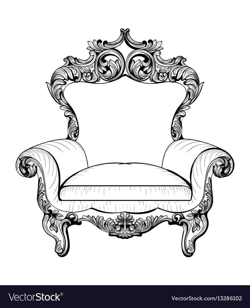 Exquisite fabulous imperial baroque armchair
