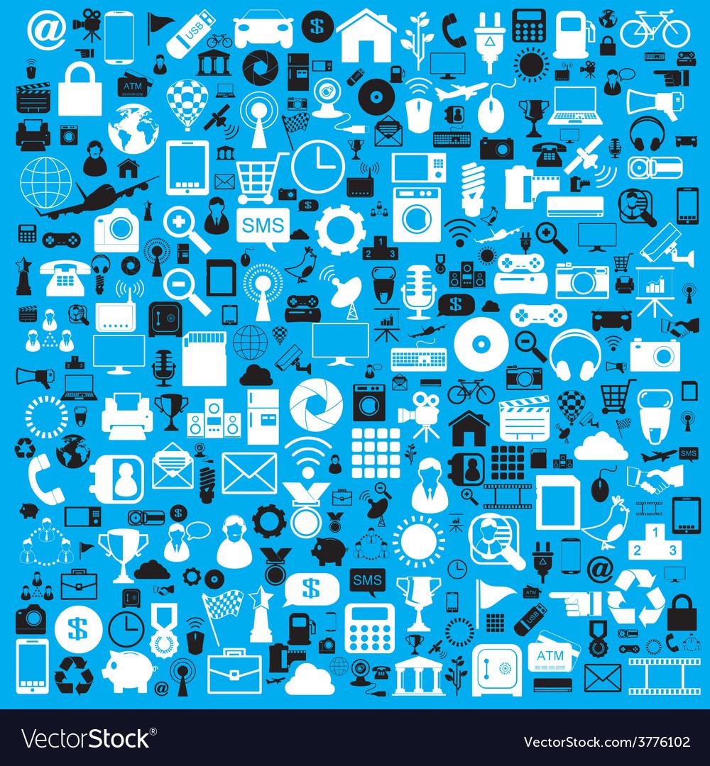 Icons web set vector image