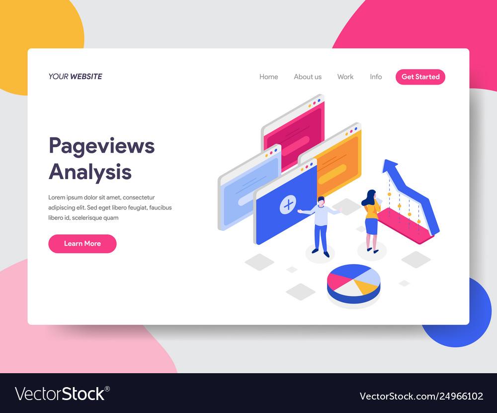 Landing page template pageviews analysis