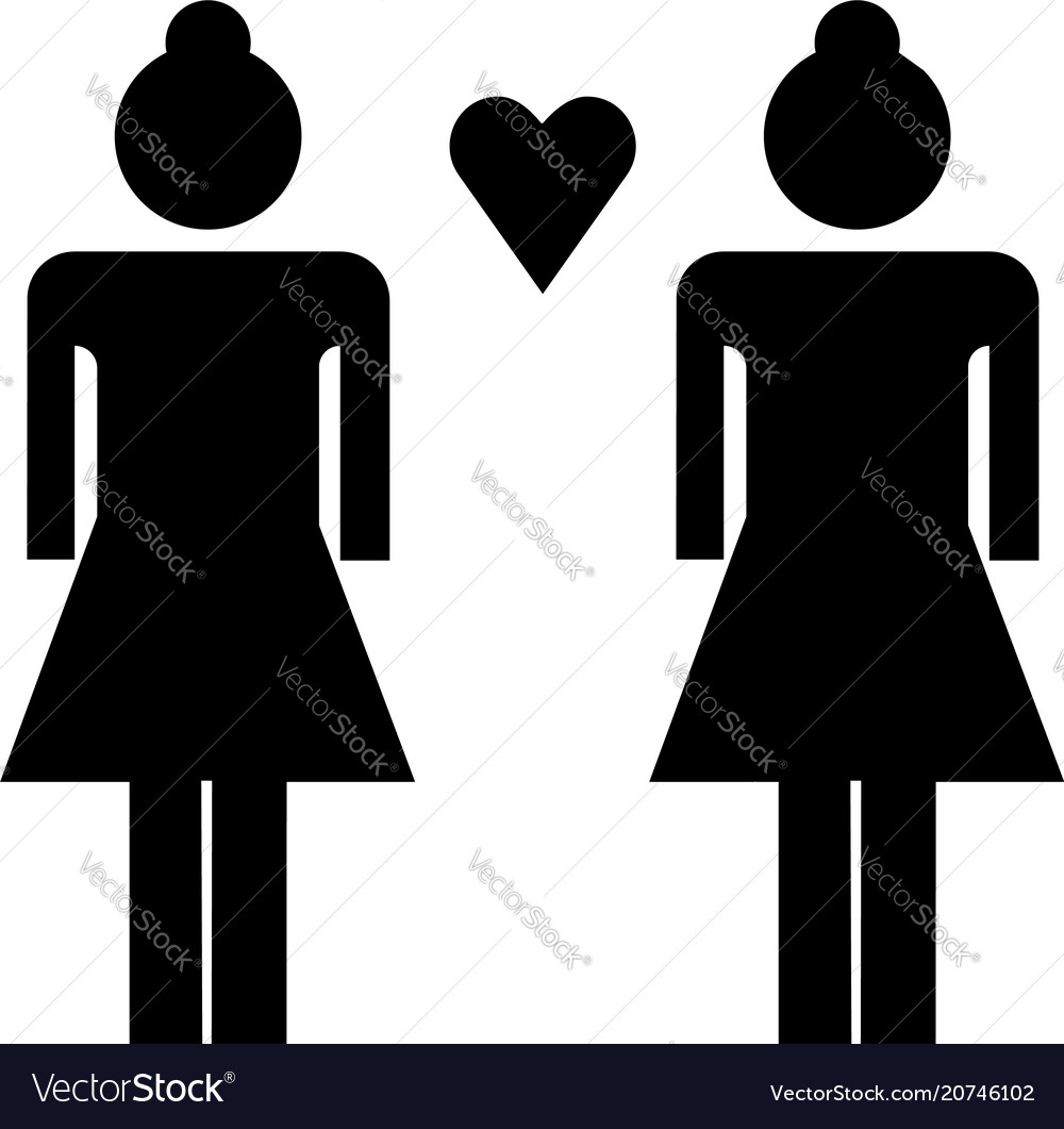Lesbian flat icon vector image