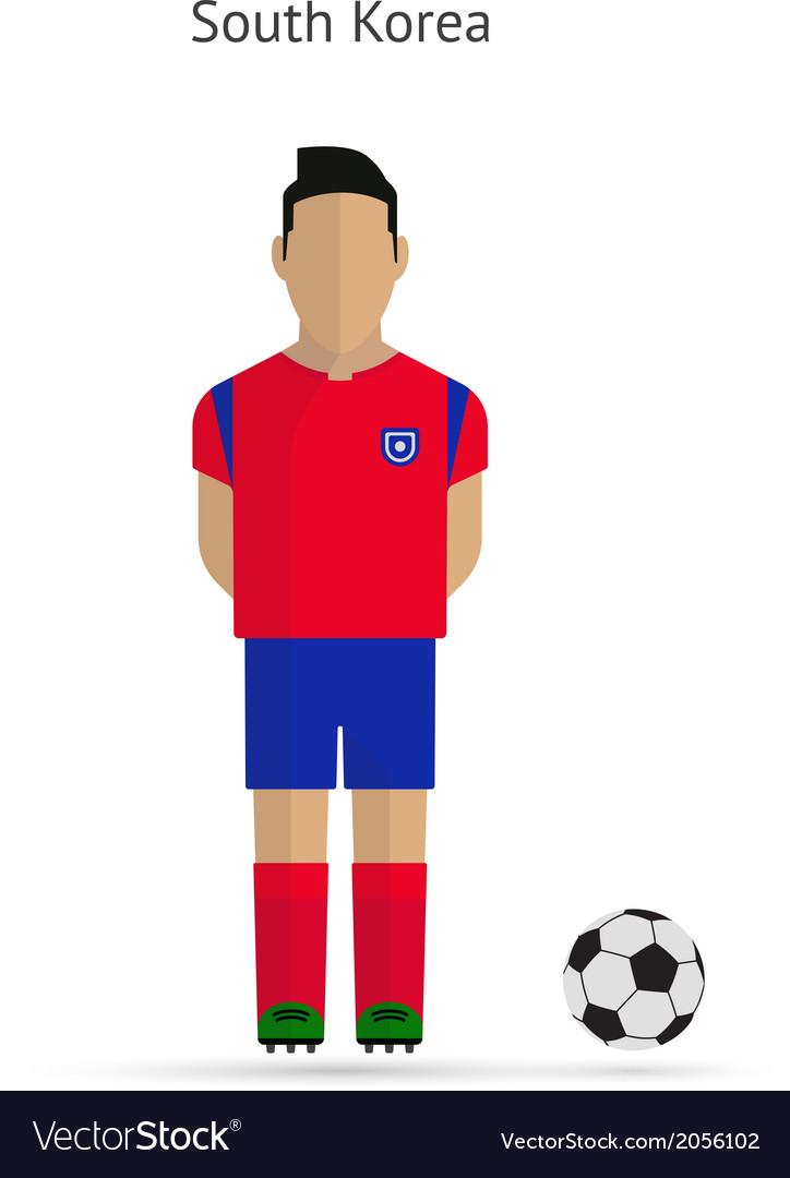 84e7e9005 National football player South Korea soccer team Vector Image