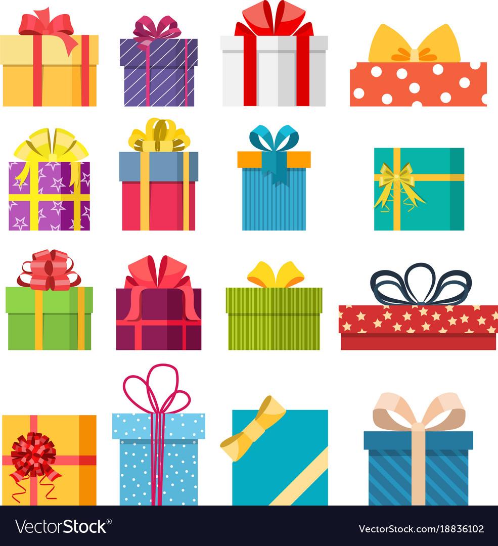 Set Of Christmas Gift Box Royalty Free Vector Image