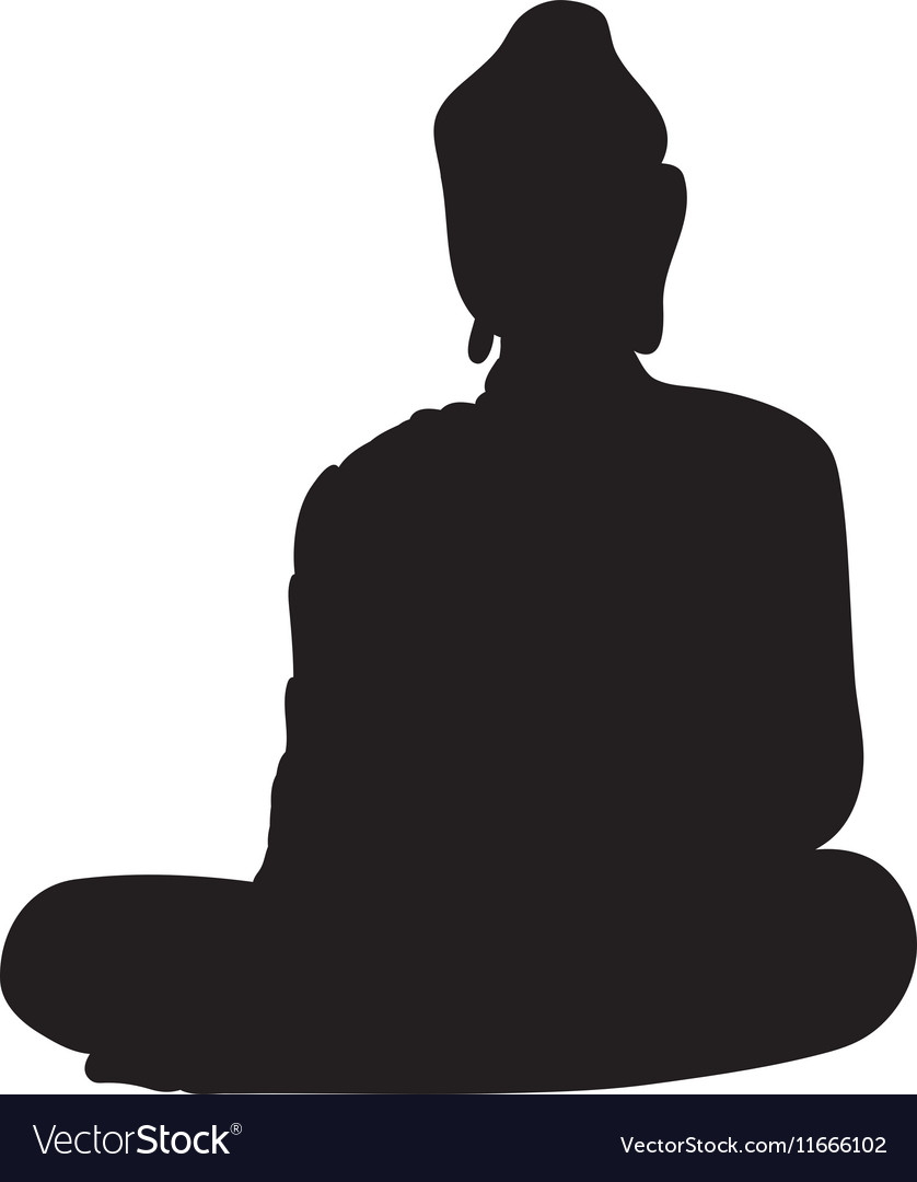 Silhouette of a buddha