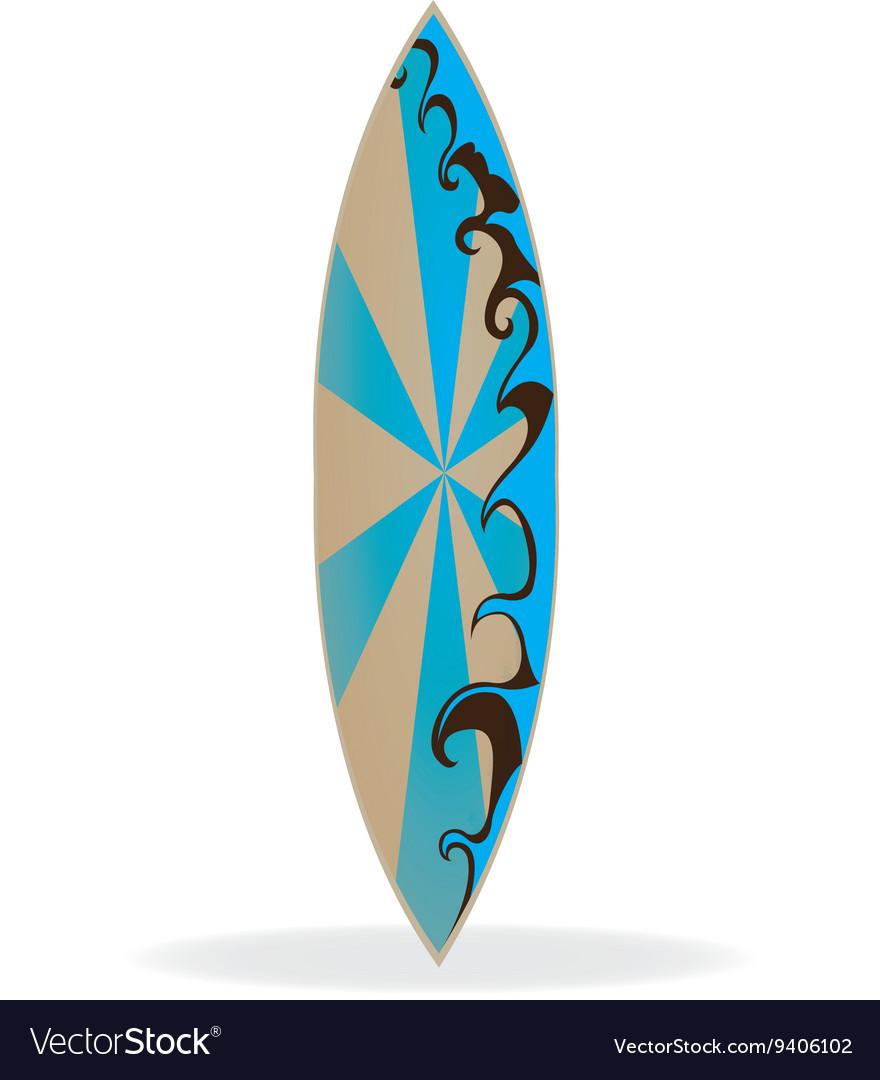 Surfboard Design Royalty Free Vector Image Vectorstock