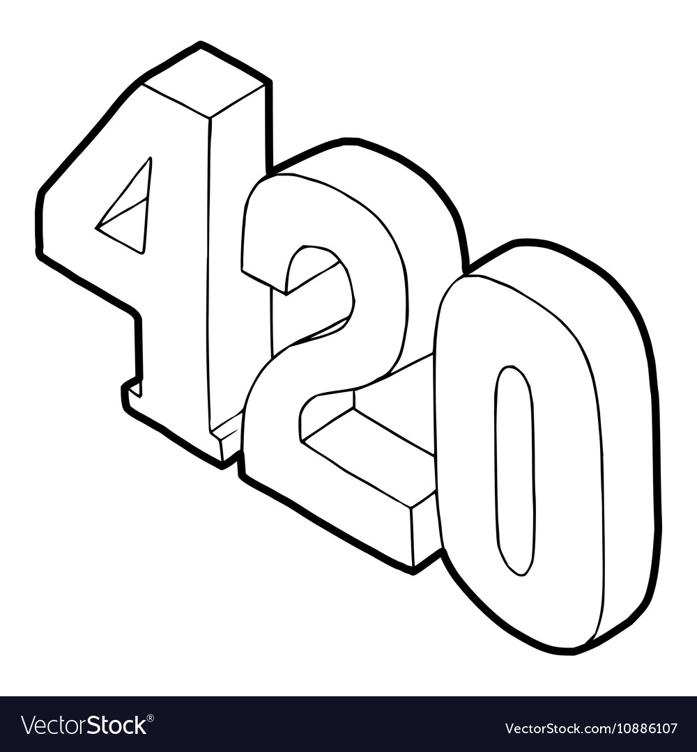 420 cannabis smoking time icon vector image