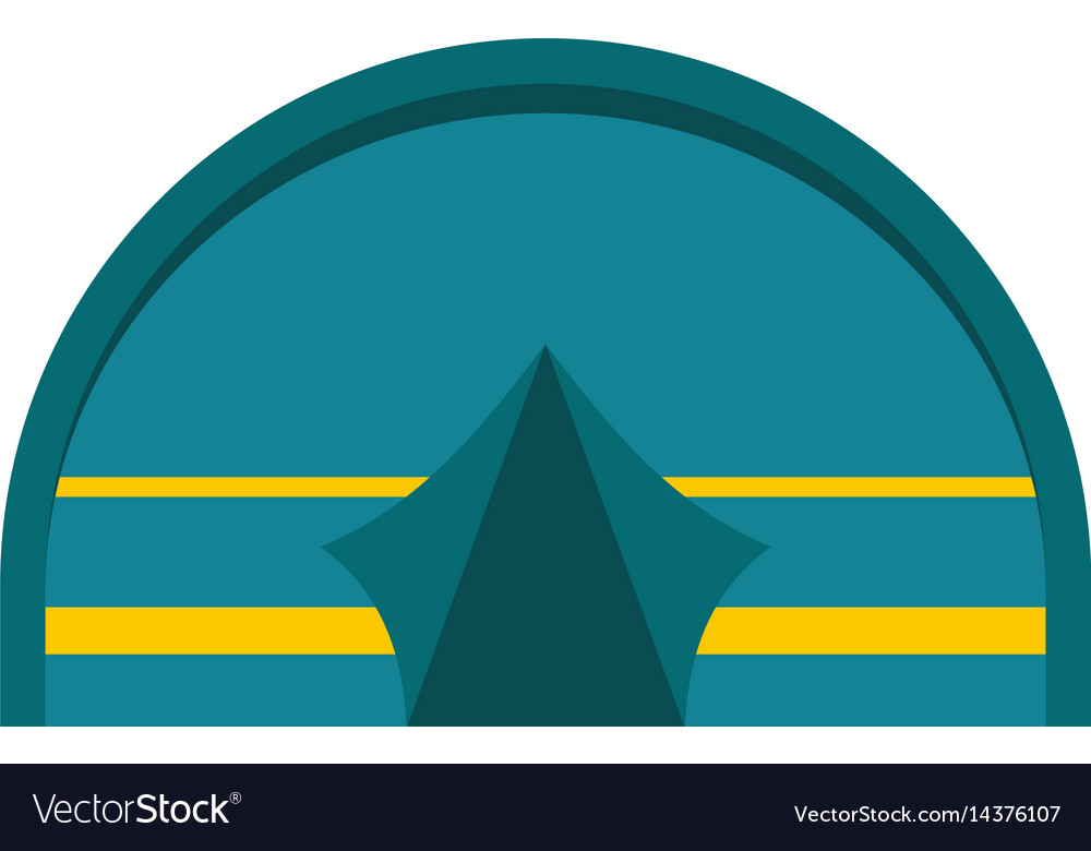 Blue touristic camping tent icon isolated