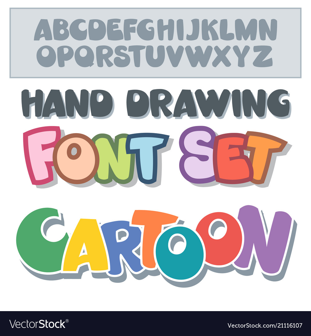 Cartoon font set