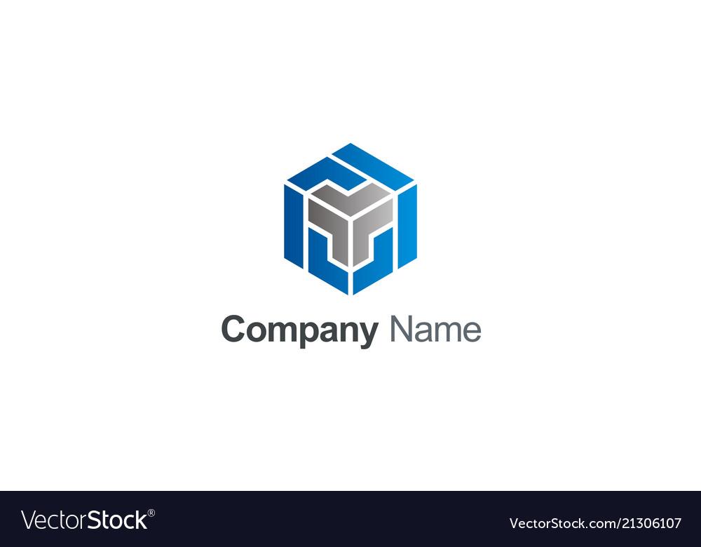 Cube 3d maze company logo