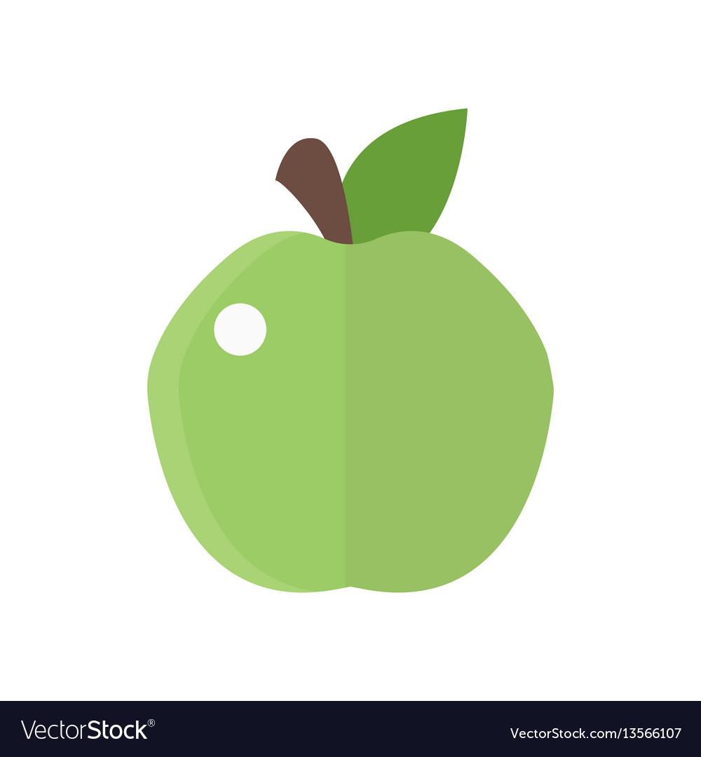 Fresh green apple badge health