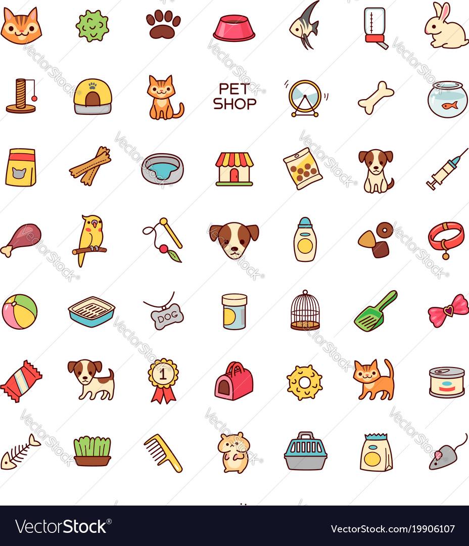 Icons pet shop