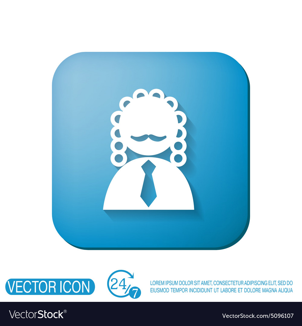 Judge Icon Avatar Symbol Of Justice Royalty Free Vector