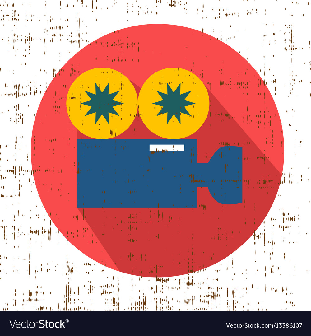 Movie grunge camera symbol clean