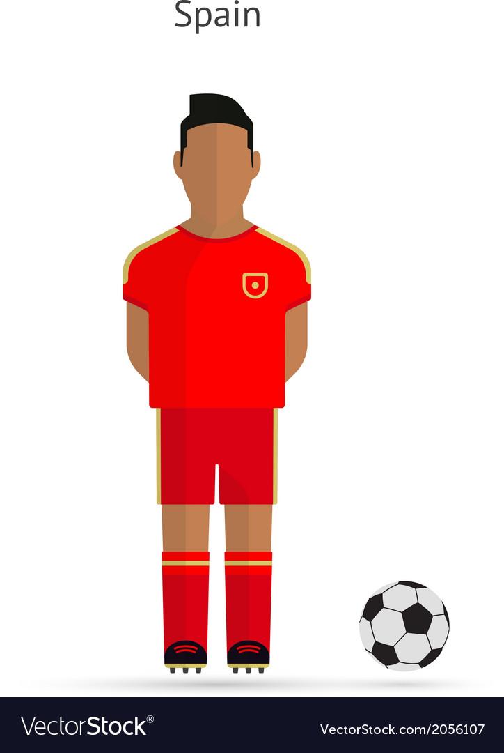 National football player Spain soccer team uniform