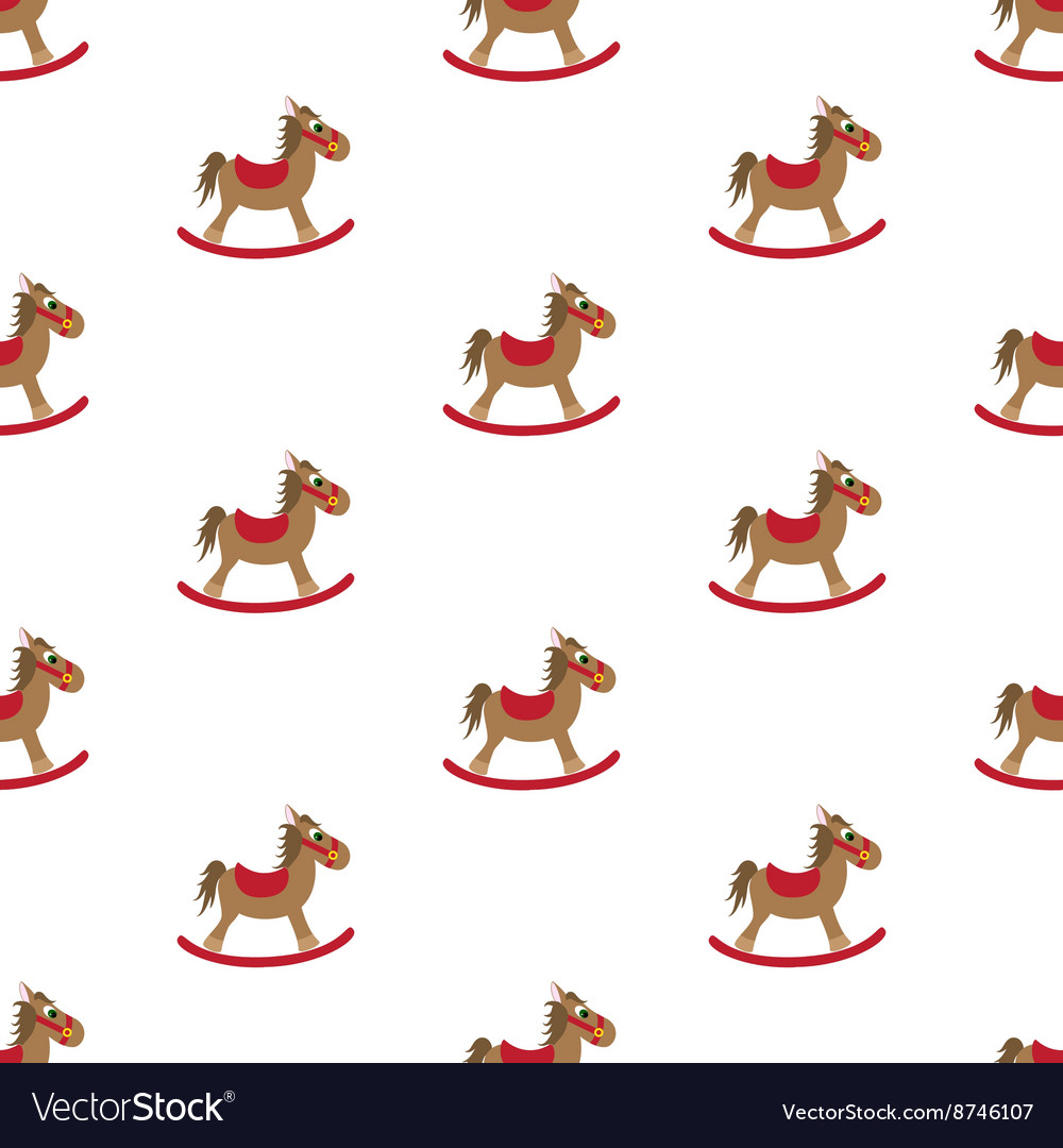 Rocking horse Pattern vector image