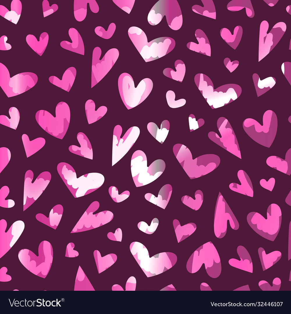 Seamless pattern with heart for happy