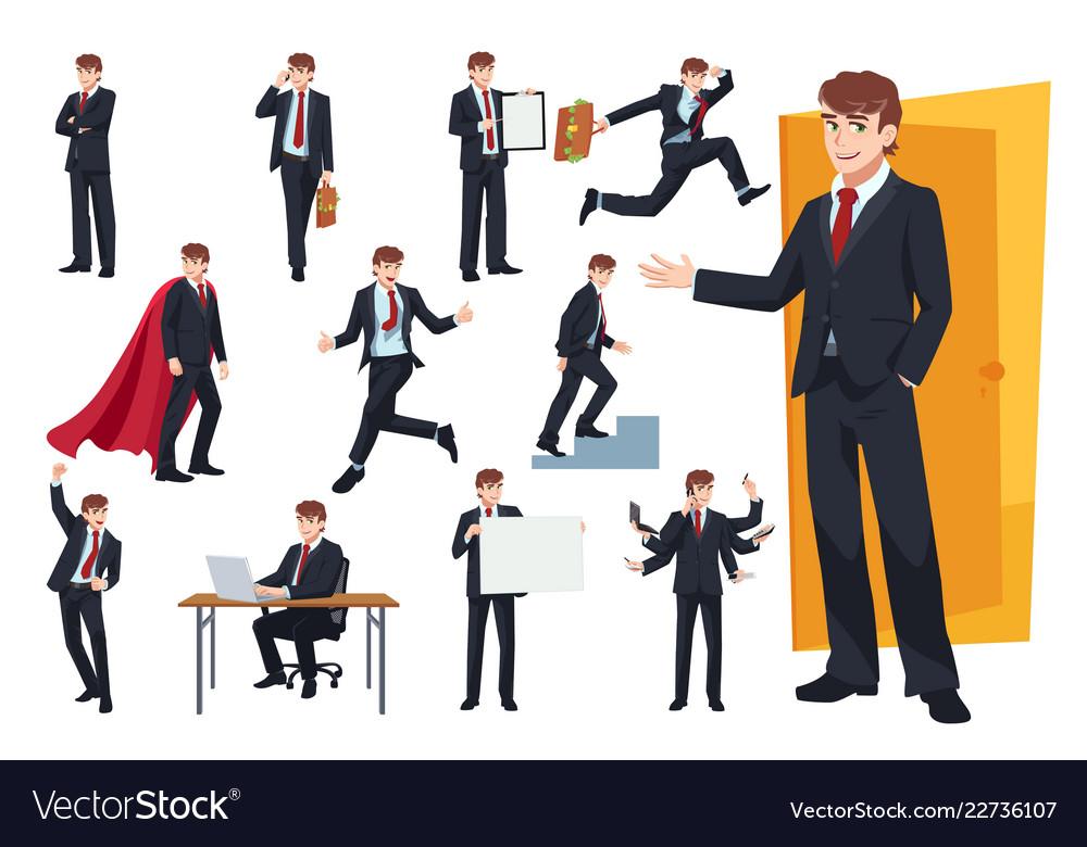 Set of businessman character design
