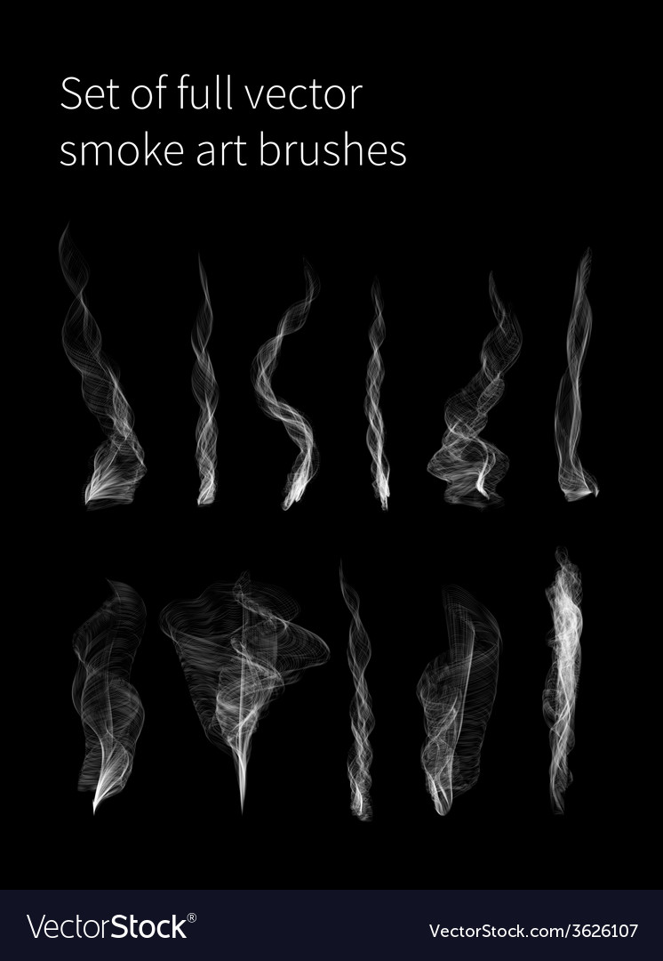Set of full smoke brushes