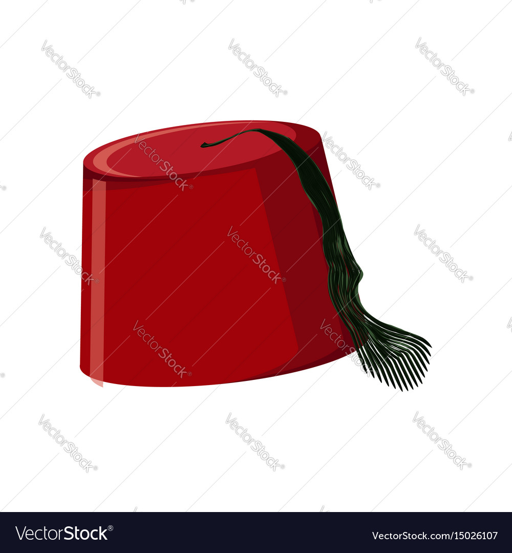 Traditional turkish hat fez or tarboosh