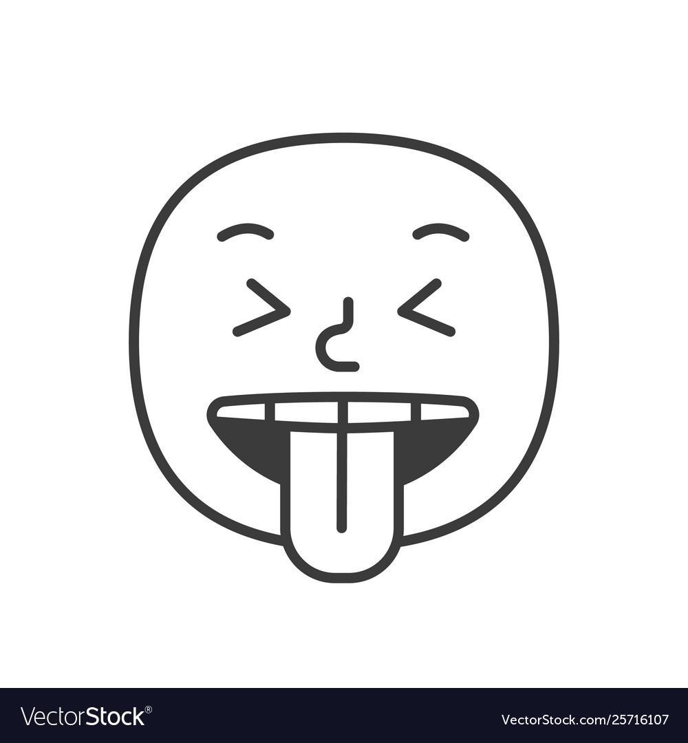 Wicked smile fase black and white emoji eps 10