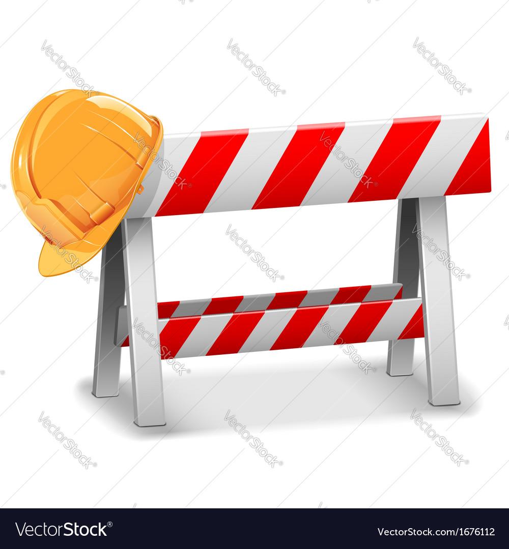 Barrier with Helmet