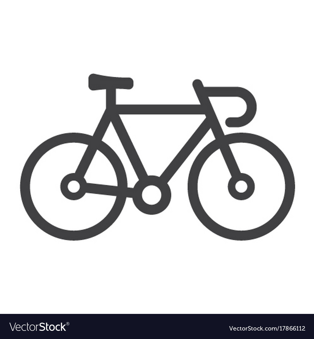 bicycle line icon transport and vehicle bike vector image rh vectorstock com bike vector free bike victoria john crouch