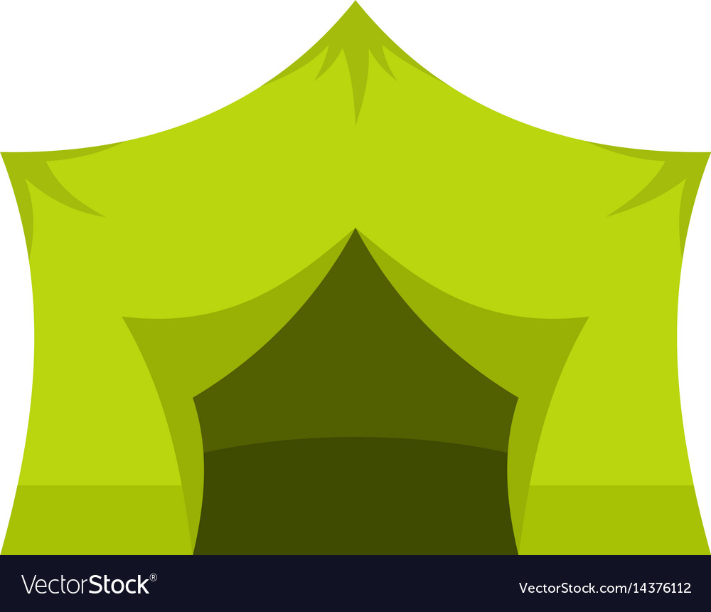 Camping equipment icon isolated vector image