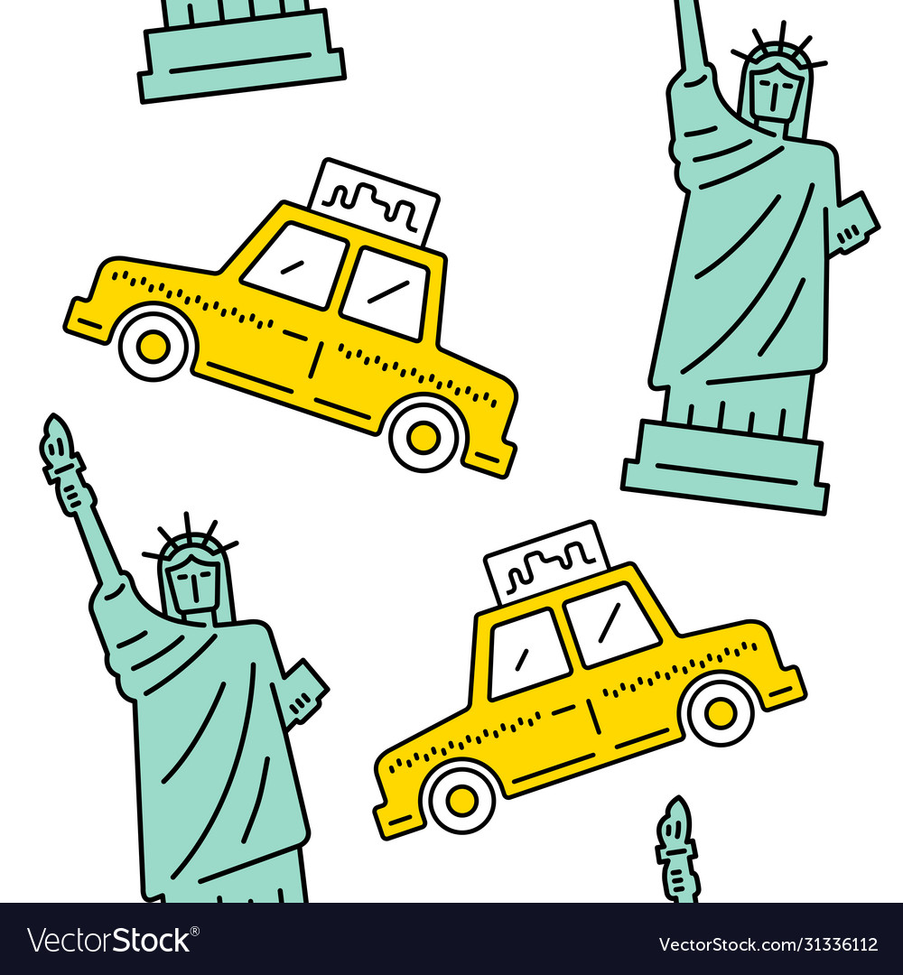 New york city seamless pattern