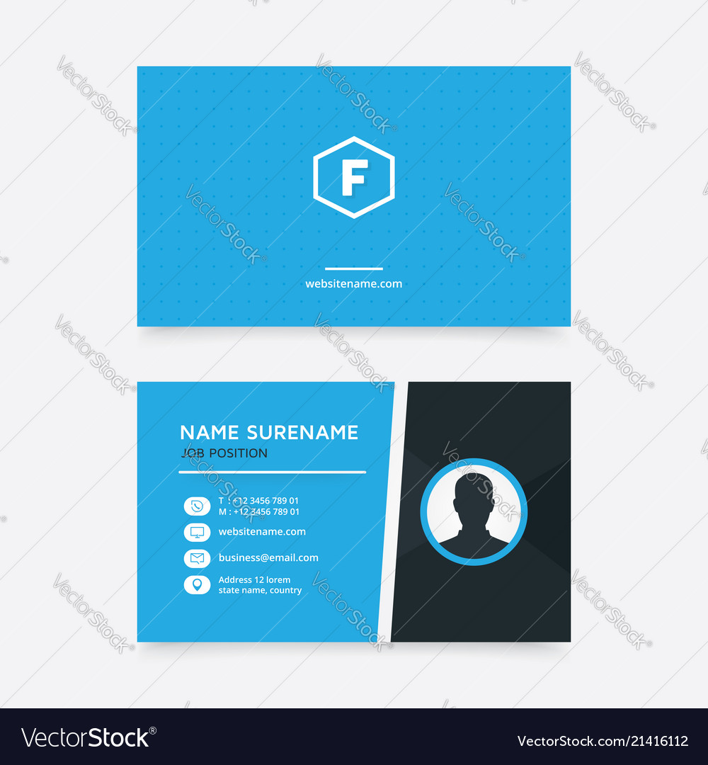 Simple and modern business card