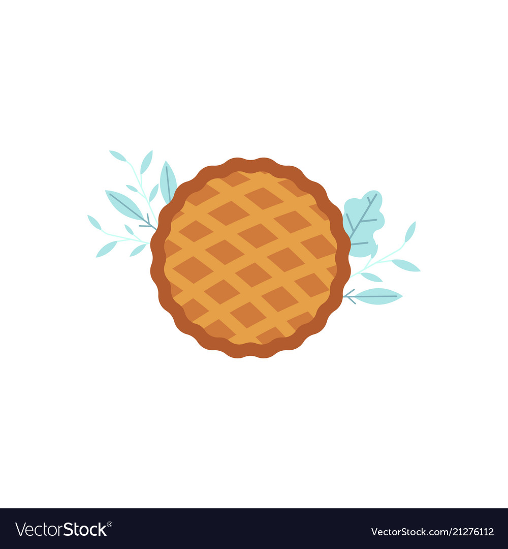 Thanksgiving pie flat icon