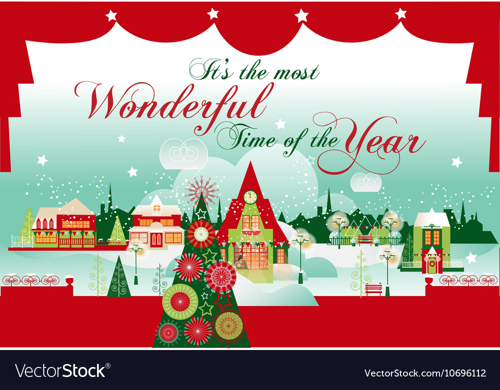 The Most Wonderful Time Christmas Card