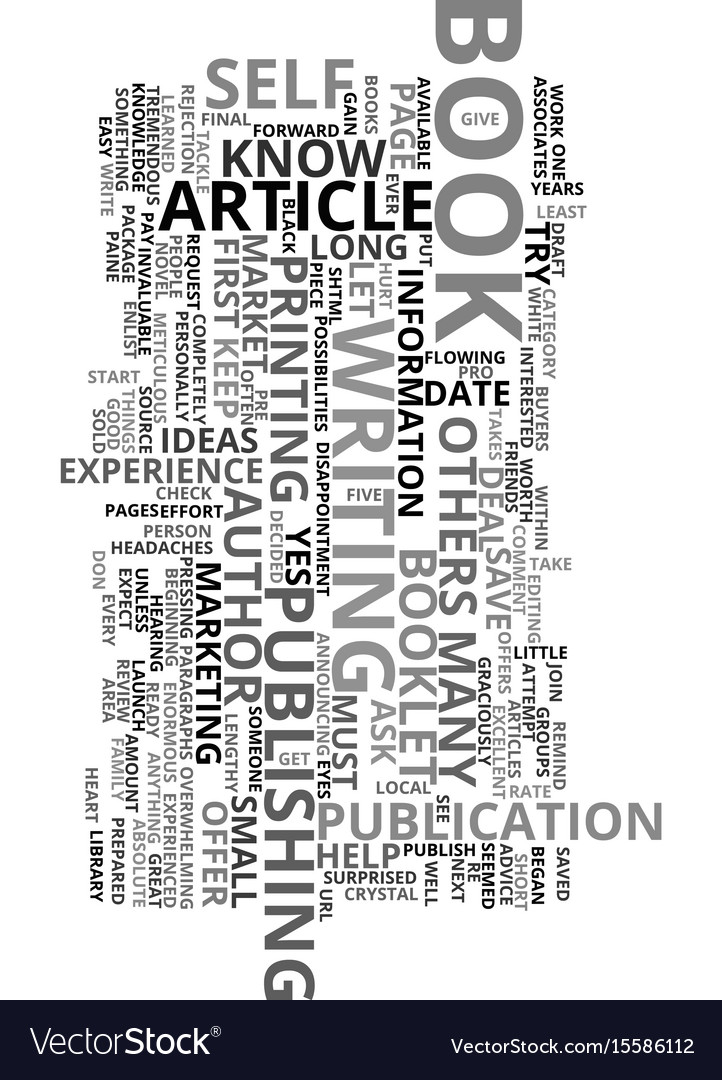 You can be an author text word cloud concept