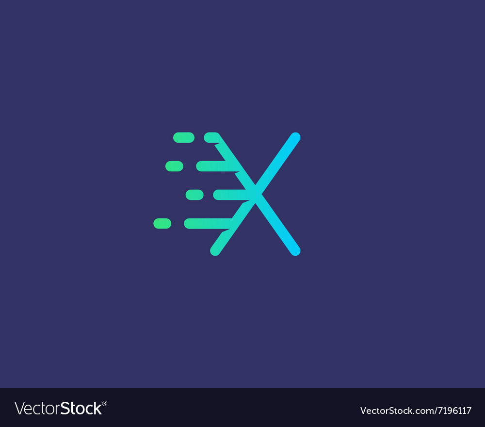 Abstract letter X logo design template Dynamic