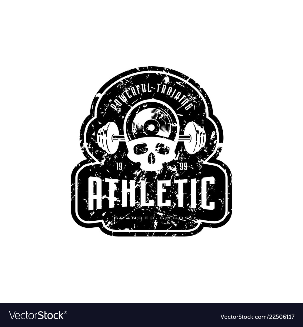 Athletic emblem for t-shirt sticker and tag