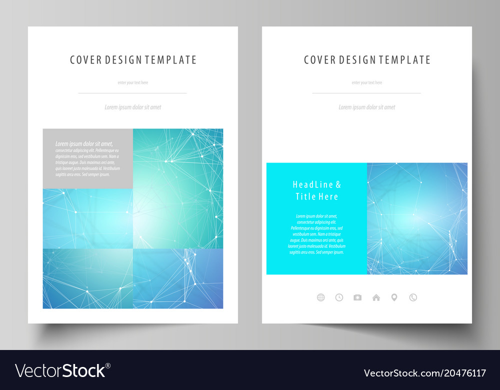 Business templates for brochure magazine flyer vector image accmission Choice Image