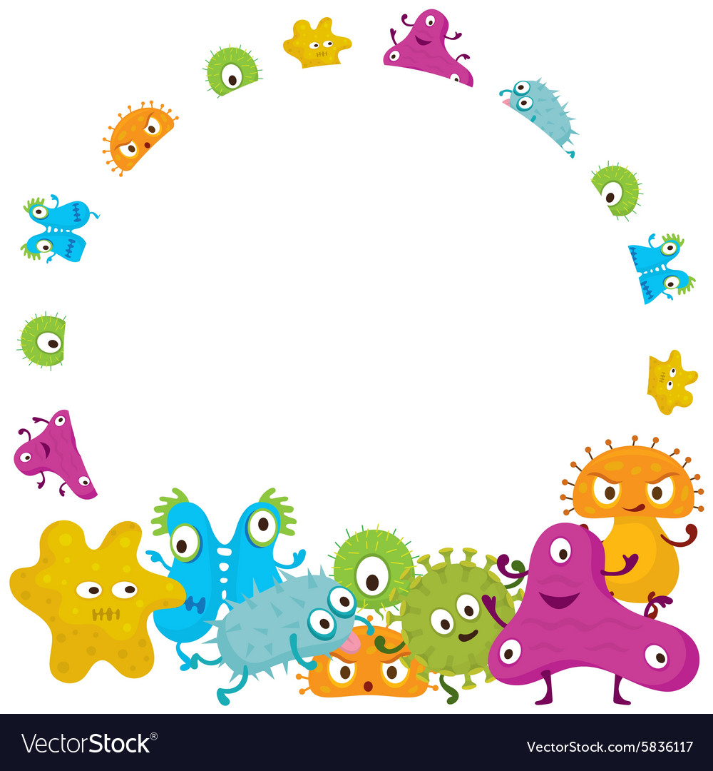 cute germ characters frame and border royalty free vector border clipart for wedding free border clipart images